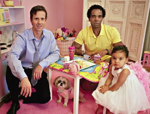 Pink Parenting Happy Family - Chris, Victor and Coco Fraley Self