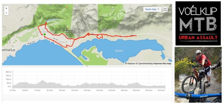 Voelklip Urban Assault MTB Route. Free no permits required and extended to 24 km.