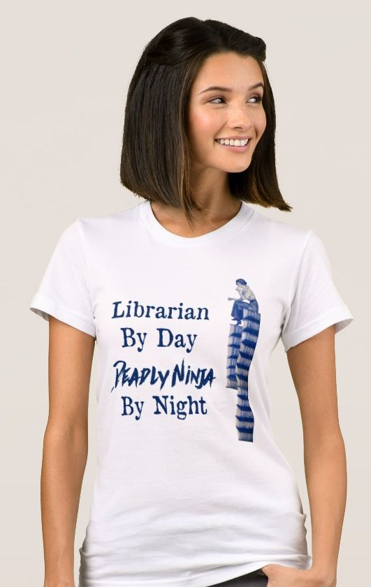 'Librarian By Day' - Fine Jersey T-Shirt.  Women's American Apparel Fine Jersey T-Shirt. One for the librarian https://www.zazzle.com/librarian_by_day_fine_jersey_t_shirt-235616540540726925 #TShirt #librarian #librarys #humor #humour #clothing