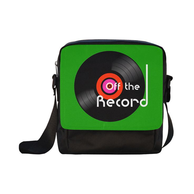 Off The Record Crossbody Nylon Bags (Model 1633) #bags #vinyljunkie #offtherecord #green #retro #circle #music #musicfan #vinyl #fashion #fashionable #records #45s #33rpm #artsadd