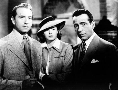 Ingrid Bergman, Humphrey Bogart and Paul Henreid in 'Casablanca'
