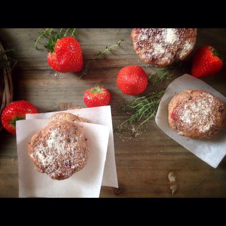 Aardbeien scones zonder suiker