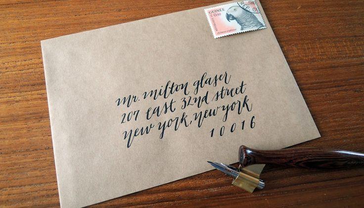 Envelope Addressing Modern Pointed Pen Calligraphy