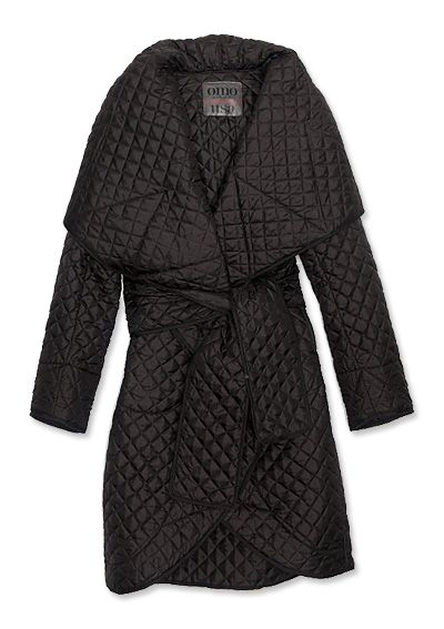 16 Chic Pieces to Help You Brave the Cold - Long Quilted Coat from #InStyle