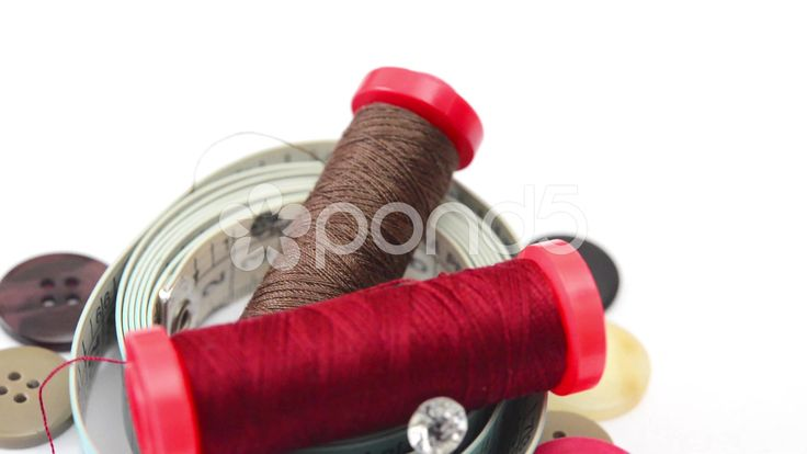 detail sewing object rotating,on white background - Stock Footage | by enzodeber