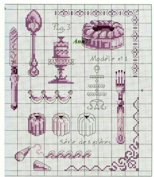 #crossstitch #kanaviçe #mor #pasta #çatal #bıçak #kaşık #ensevdiklerimden #purple #cupcake #fork #spoon #knife #oneofmyfavourite