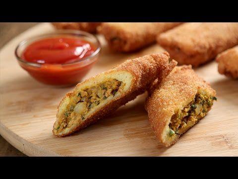 Chicken Kheema Bread Rolls | Popular Chicken Starter Recipe | Masala Trails