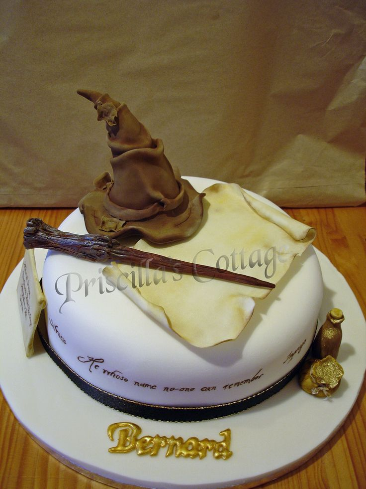 Harry Potter Wizard Theme Cake | by Lisa's Cake Creations