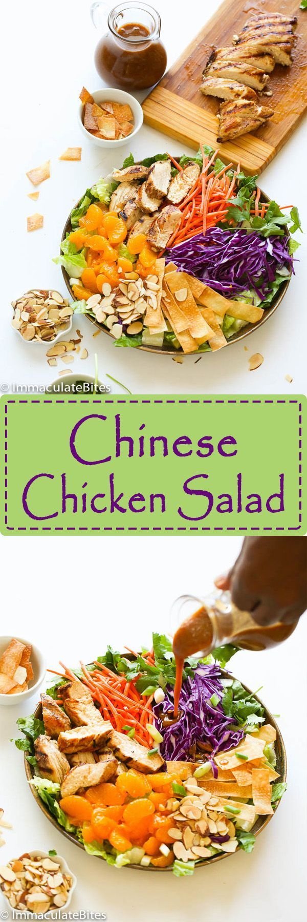 Homemade Chinese chicken salad with a lighter and healthier  touch. Crispy crunchy  serve  with a lip smackingly delicious Almond dressing. The following recipe, is my  lightened up version of  Chinese chicken salad served at a restaurant I used to work at . A very simple and popular dish – a big seller for the restaurant and …