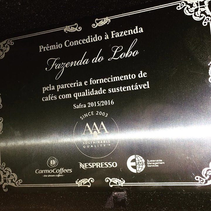 Premiação aos produtores certificados! Prêmio de Qualidade Nespresso! #sustentabilidade #coffee #agriculture #fazendadolobo #cafesuldeminas #nespressoorigins2016  by andreagnogueiraf http://ift.tt/1qA7N8D