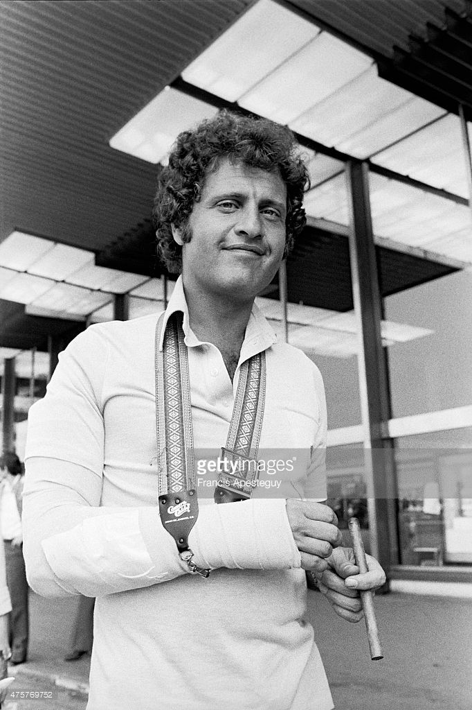 Orly, France, , Joe Dassin French singer at the Orly airport, 1977