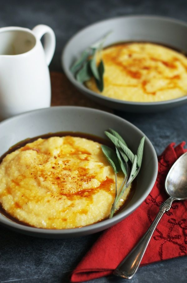 Acorn Squash Polenta with Spiced Brown Butter | Set the Table