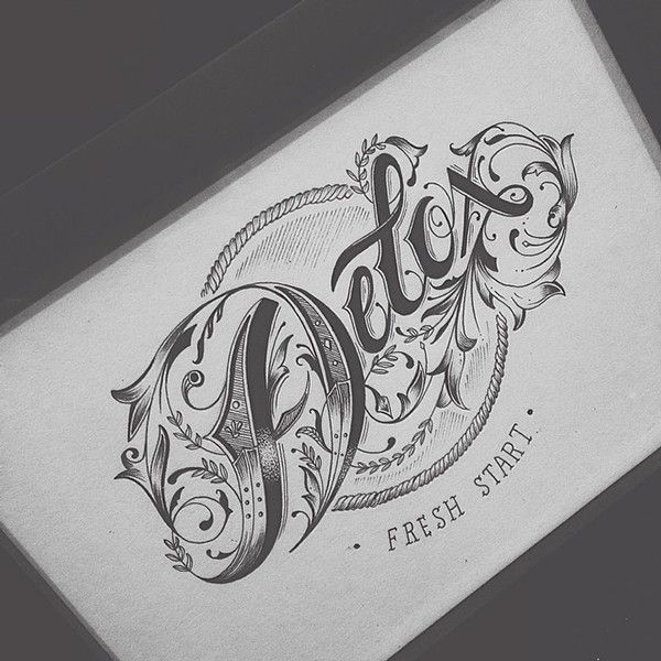 Beautiful Typography Sketches | Abduzeedo Design Inspiration