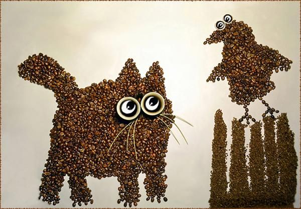 Incredible Coffee Bean Art by Irina Nikitina - Smashcave