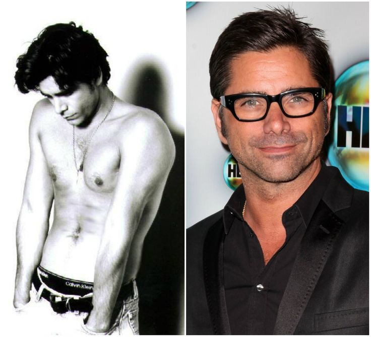 A shirtless John Stamos, and a glasses wearing John Stamos. OMG, I am dying.