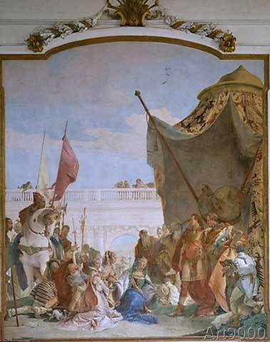 Giovanni Battista Tiepolo - Alexander der Große und die Familie das Darius