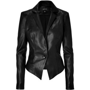 JITROIS Black Stretch Leather Jacket. Want.
