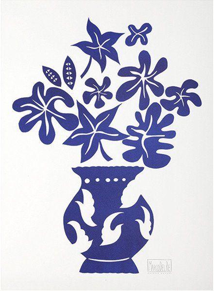 Del Re - Vase IV Bleu
