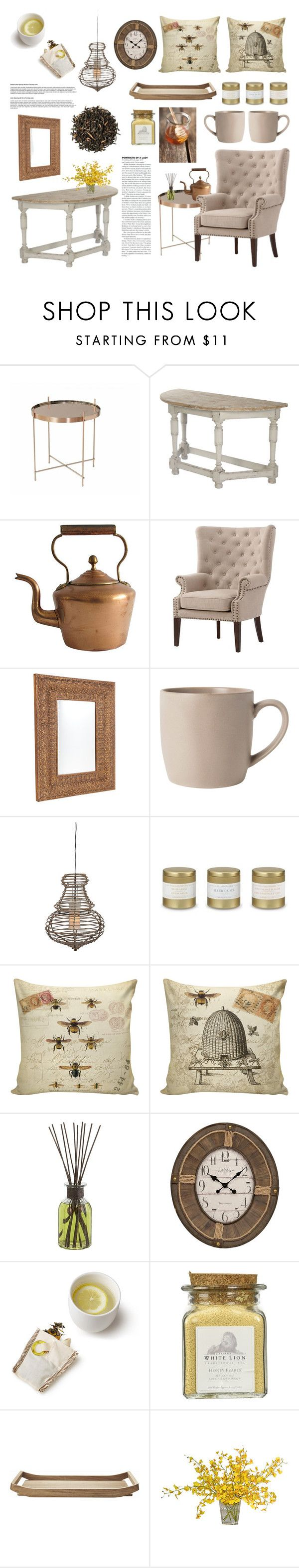 """Honey Lemon"" by thenobili-tea ❤ liked on Polyvore featuring interior, interiors, interior design, home, home decor, interior decorating, Home Decorators Collection, Cafe Lighting, Dot & Bo and Jeffan"