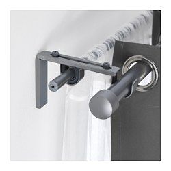 Curtain Rods & Rails - IKEA 2nd curtain rod bracket 49 cents & rod $4.99
