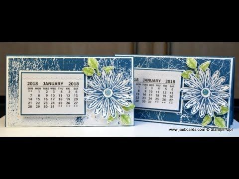 No.329 - 2018 Calendar Swaps for OnStage - Stampin' Up! UK - YouTube