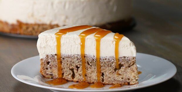 Banana Bread Bottom Cheesecake Delight – Desserts Corner