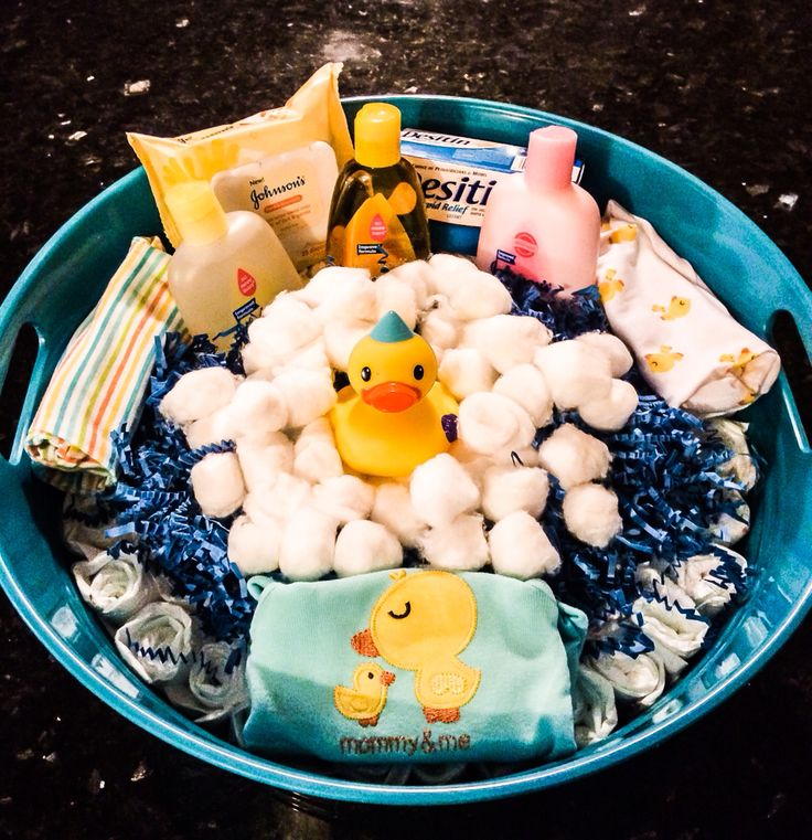 baby shower gift! diaper bath tub made for a coworker