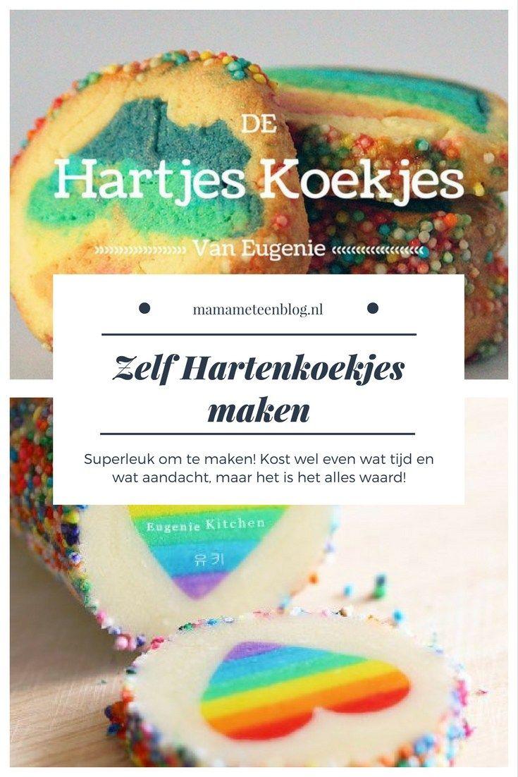 Zelf hartenkoekjes maken, zo superleuk om te doen. het kost wel even tijd, maar dan heb je ook wat! mamameteenblog.nl #koekjes #bakken #eugenieskitchen
