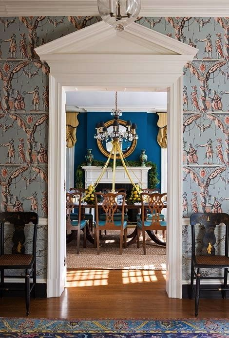 34 Best Images About Blue Dining Room On Pinterest