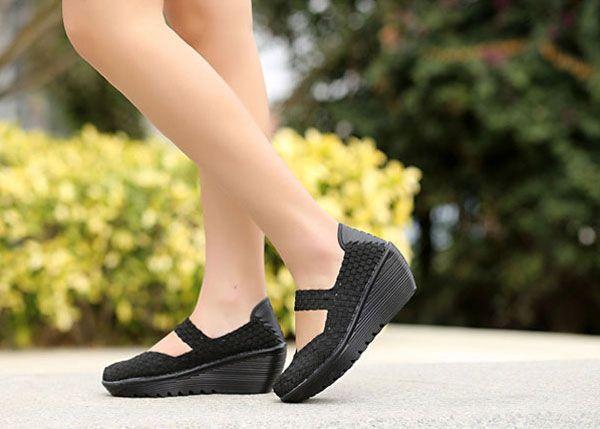 Elastic Belt Woven Swing Shoes Female Sport Sandals Shoes