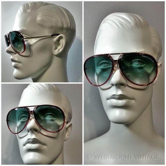 large aviator sunglasses  Rare Porsche Design Carrera Aviator Sunglasses model 5632 (65-12 ...