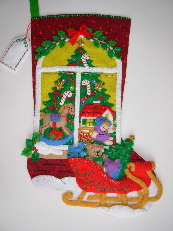 beautiful felt christmas stocking