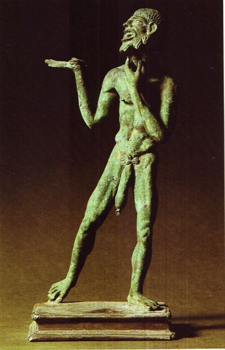 Sculpture gilded in bronze; from Pompeii