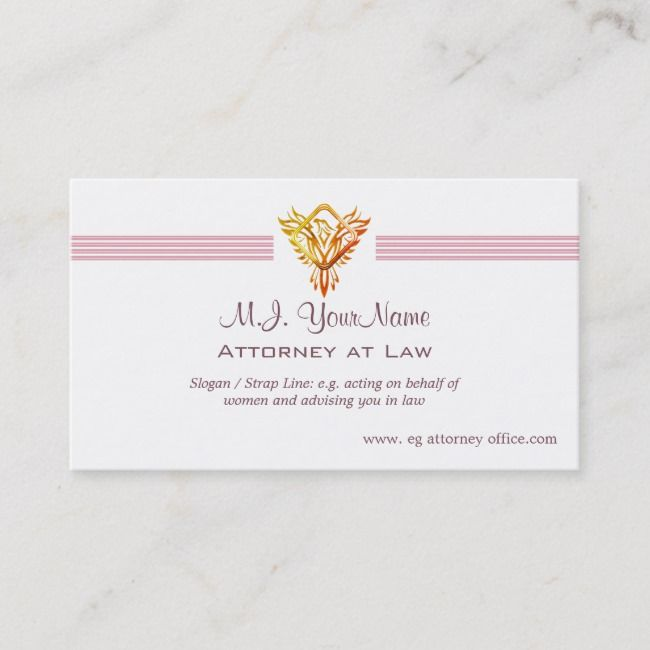 Lawyer Attorney Luxury Stripes And Flame Phoenix Business Card Zazzle Com Attorneys Business Card Template Cards