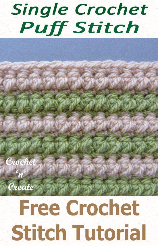 Free Crochet Stitch Tutorial Single Crochet Puff Stitch Crochet