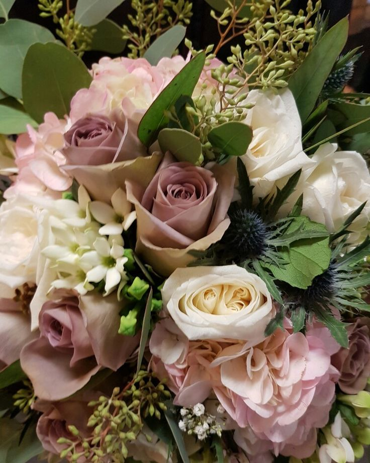 From a recent wedding by Parsley and Sage #wedding #roses #florist