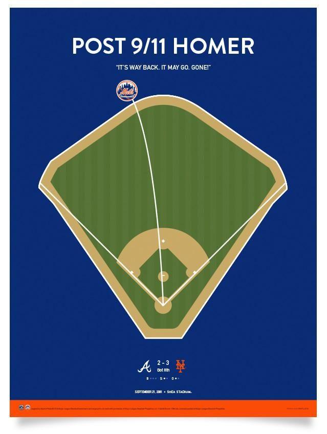 Mets Piazza Post 9 11 Homer Print Mets Mets Baseball Homer