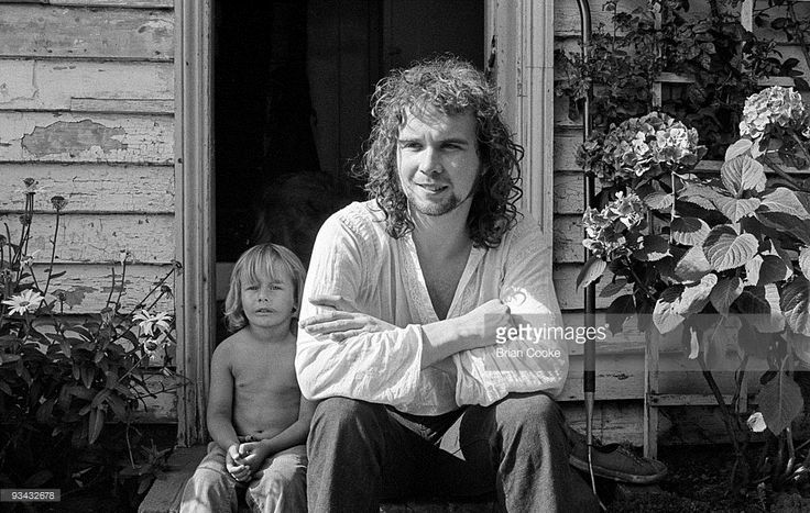 John Martyn with his adopted son Wesley at home in Hastings, East Sussex on September 8th 1971.