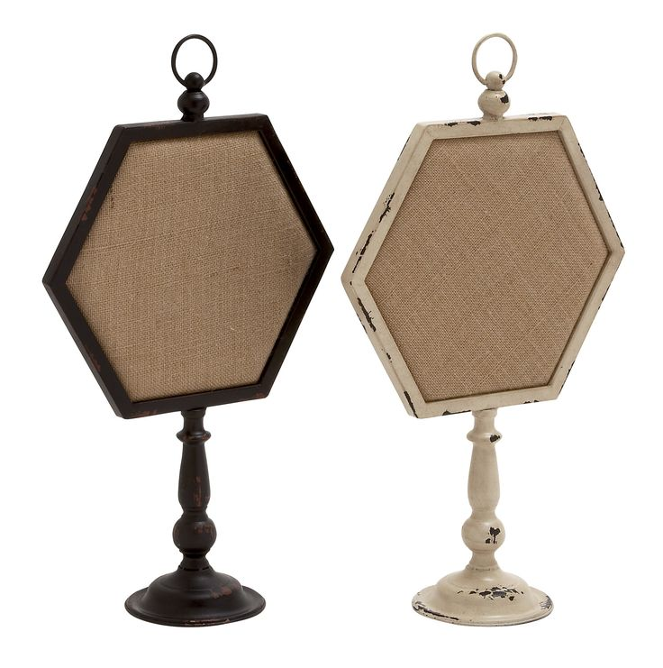 Lovely Metal Wood Note Holder 2 Assorted