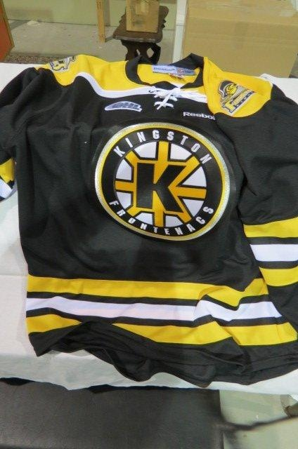Kingston Frontenacs Jersey (black) & Hat found on MaxSold FLY FM Kingston Radio Auction.