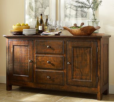 Benchwright Buffet Hutch, Alfresco Brown Finish