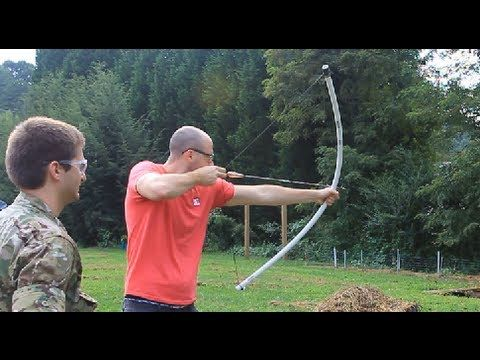 subscribe to KGBsurivalist for my Survival videos like this - http://www.youtube.com/user/KGBsurivalist How to Make a 60 lb PVC longbow for less than $10 ins...