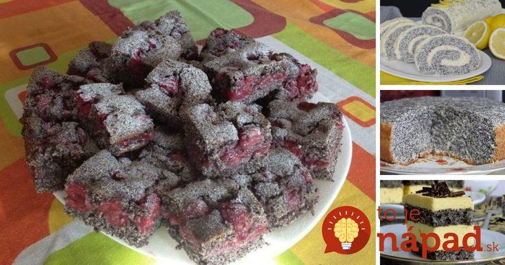 8 najlepších receptov na makové koláče, zákusky a ďalšie skvelé pochúťky, ktoré si určite zamilujete!