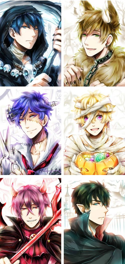 Free! Halloween The bottom right one looks like Dantalion from Makai Ouji: Devils and Realist