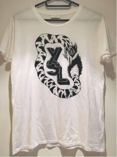 サンローランパリ メンズTシャツ カットソー 白T 正規品_画像1