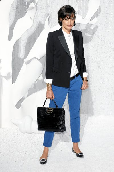 Ines de la Fressange – love her style!  I bought pants like this at Gap.