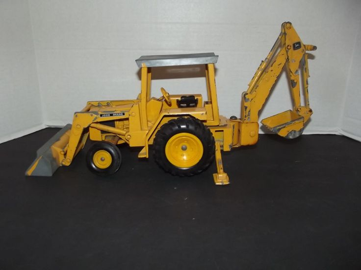 John Deere Backhoe Attachment >> Ertl John Deere Backhoe Loader Diecast Large Scale Tractor 1/16 scale toy | Diecast replica ...