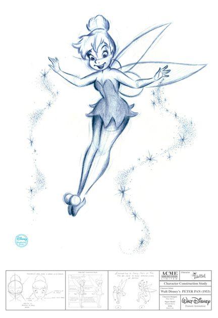 Disney - Tinker Bell - Swarovski Crystal Lithograph