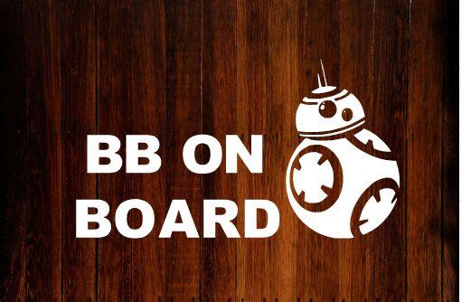 Star Wars Bumper Sticker/Decal. BB on Board in Baby on Board Bumper Sticker #Starwars #baby #decals