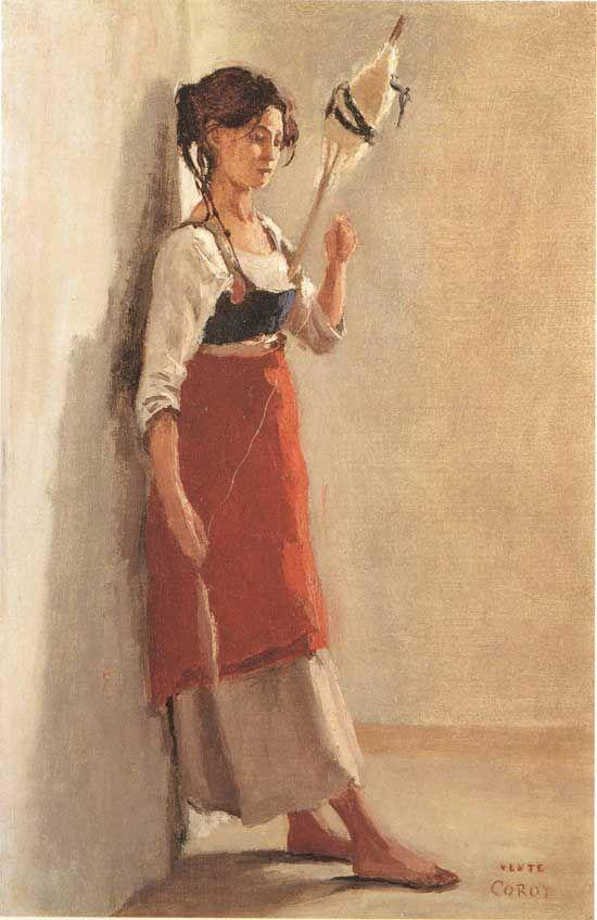 Corot, Jonge italiaanse, 1826